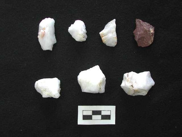 Des restes de haches retrouvés en Crète. © Ministère grec de la culture et du tourisme.