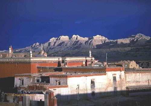 Un paysage sur le plateau tibétain. © DR
