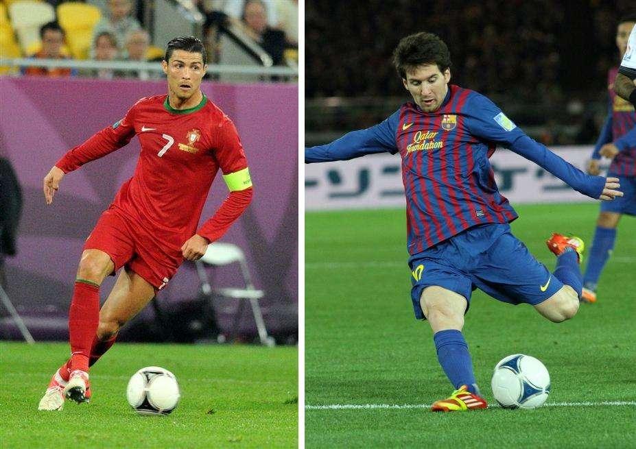 Cristiano Ronaldo (à gauche) et Lionel Messi comptent parmi les plus grands joueurs de football actuels. Les deux hommes sont de farouches rivaux. © Ilya Khokhlov, Wikipédia, cc by sa 3.0, Christopher Johnson, Globalite, Flickr, cc by sa 2.0