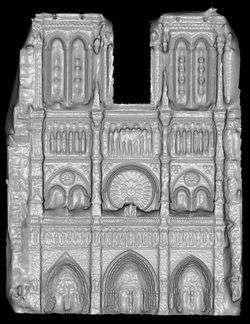Notre-Dame de Paris, synthétisée en 3D. Crédit Université de Washington