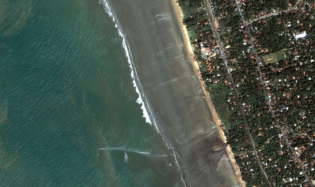 Srilanka - Kalutara : Les plages après le tsunami
