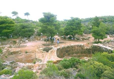Lavoirs des mines de Laurion.