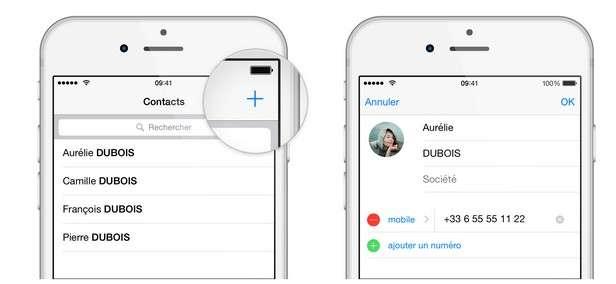 WhatsApp crée automatiquement une liste de contacts à partir du répertoire de votre smartphone. Vous pouvez aussi en ajouter manuellement. © WhatsApp