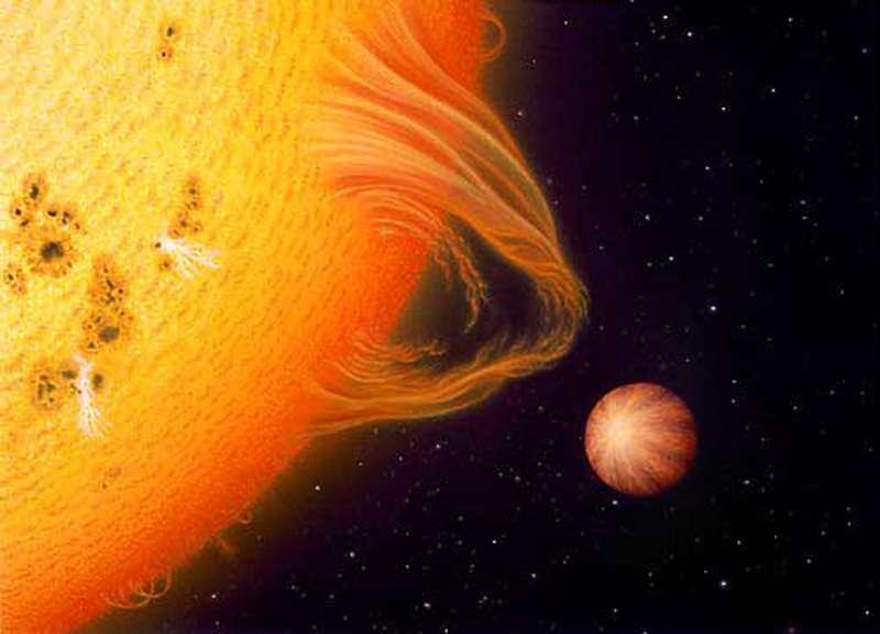 Exoplanète toute proche de son étoile