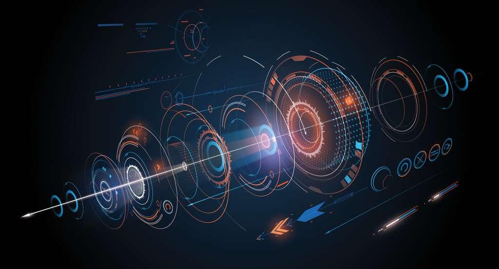 L'ordinateur de bord du vaisseau de Golan Trévize est capable de calculer des trajectoires complexes dans l'hyper-espace. © D1sk, Fotolia