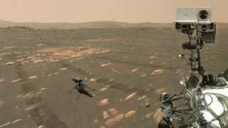 Perseverance et Ingenuity posent ensemble avant leur séparation pour explorer Mars