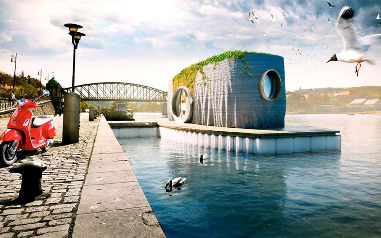 Découvrez la première maison flottante imprimée en 3D