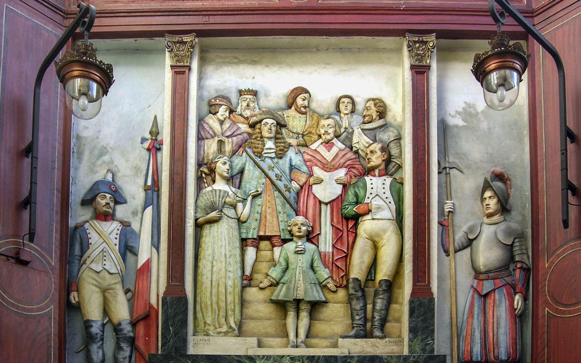Le musée Grévin à Paris est la propriété de la Compagnie des Alpes, qui détient aussi le parc Astérix et qui souhaite implanter des musées en Europe, en Asie et au Canada. Par le passage Jouffroy, l'accès au musée Grévin et le bas-relief d'Alexandre Barbiéri. © Rémy Jouan, Wikimedia Commmons, CC by-sa 3.0