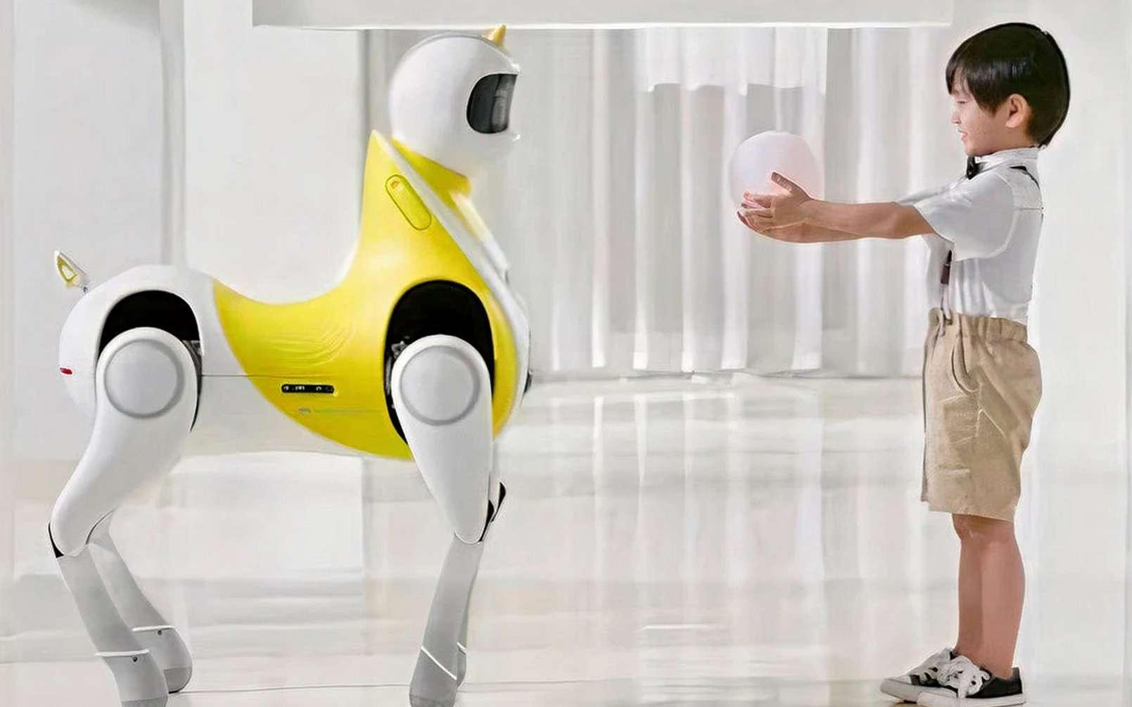 Le robot poney imaginé par Xpeng est censé pouvoir être chevauché par des enfants. Reste à voir quels dispositifs de protection contre les chutes sont prévus dans la version finale. © Xpeng Robotics