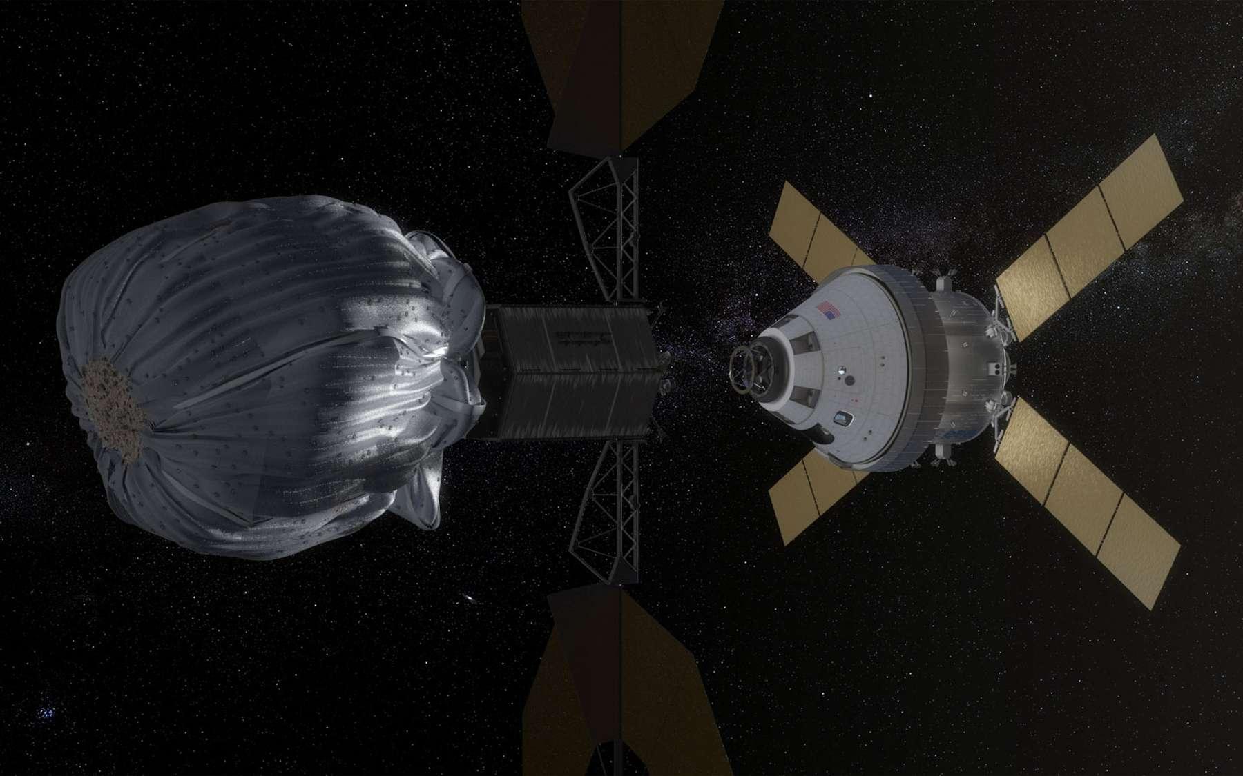 L'une des options pour capturer un astéroïde serait d'utiliser un big bag. Dans ce cas, l'objet ne devrait pas dépasser une dizaine de mètres. © Nasa
