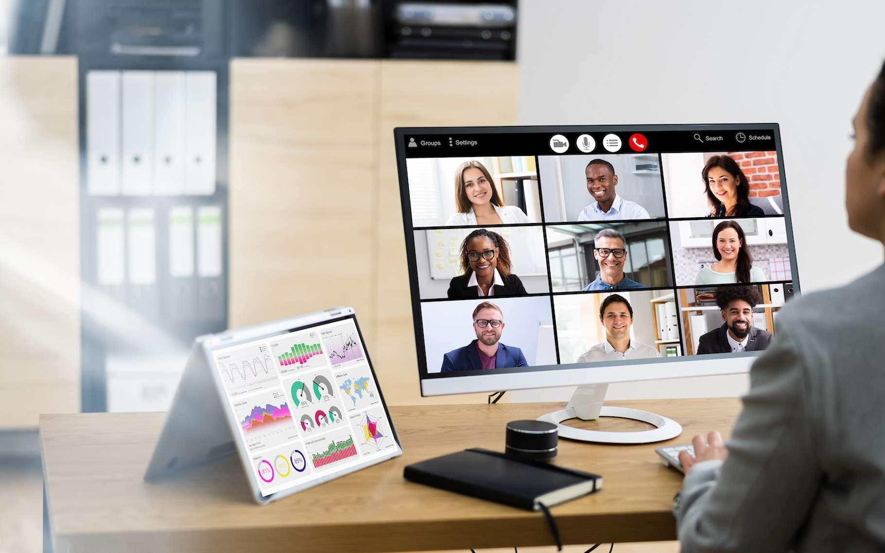 L'empreinte environnementale des réunions virtuelles peut être plus importante qu'on l'imagine a priori. Surtout si on laisse sa caméra branchée. © Andrey Popov, Adobe Stock