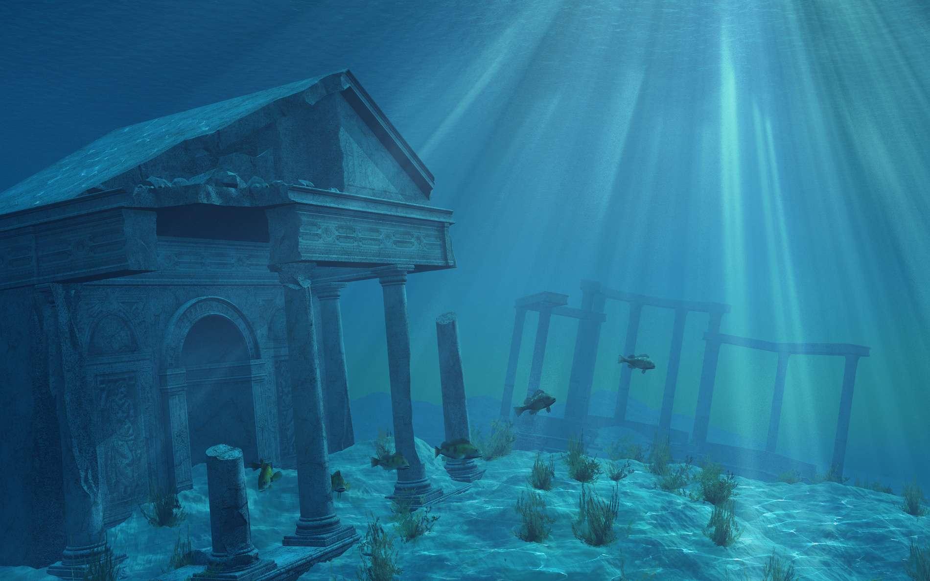 Vue de la cité imaginaire Atlantide. © AlienCat, Adobe Stock