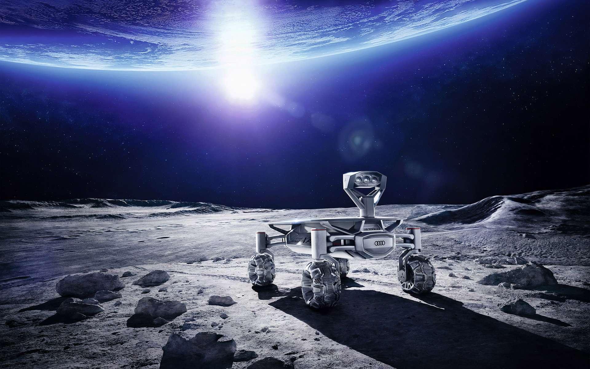 Le lancement de l'Audi Lunar Quattro est prévu d'ici la fin de l'année au moyen d'un lanceur de SpaceX ou de l'Agence spatiale indienne. © Audi, Part-Time-Scientists