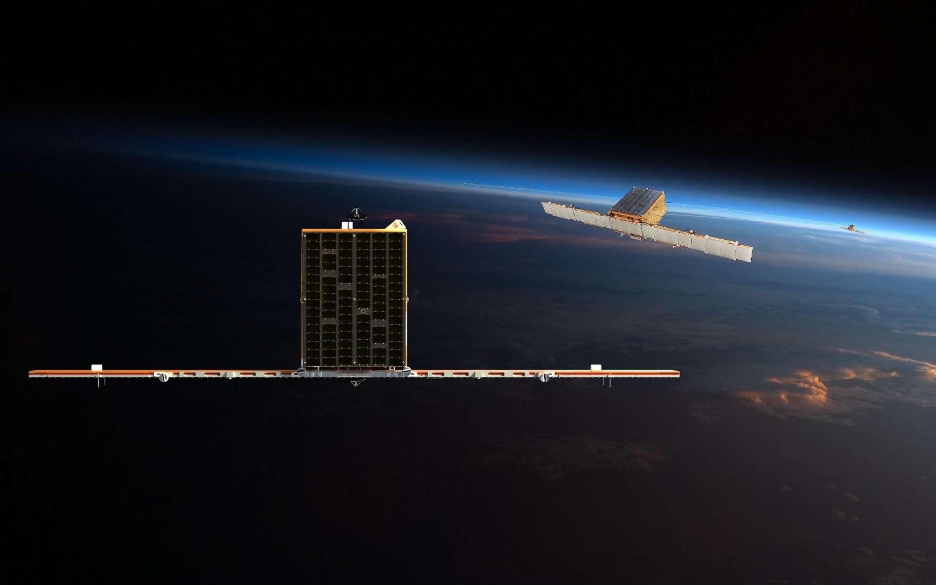 Les constellations de microsatellites sont mis en orbite basse. © ICEYE