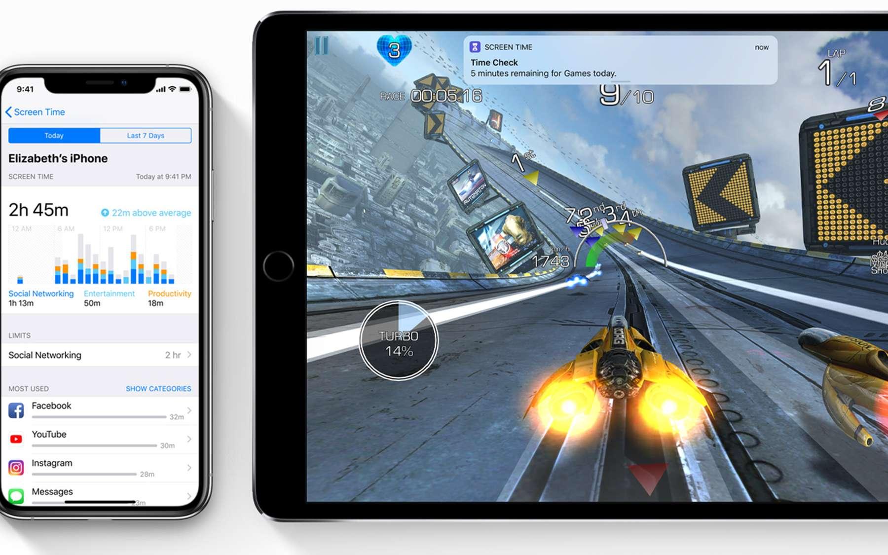 iOS 12 : comment ça marche ''Temps d'écran'' ? © Apple