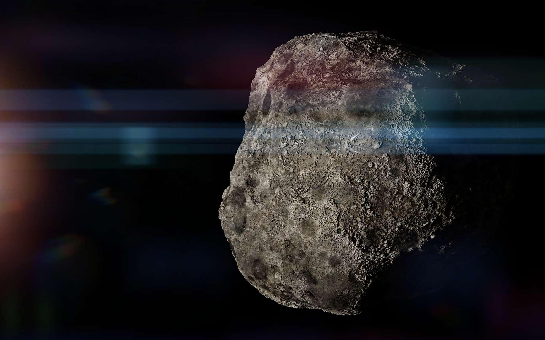 Illustration d'un astéroïde. © dottedyeti, fotolia