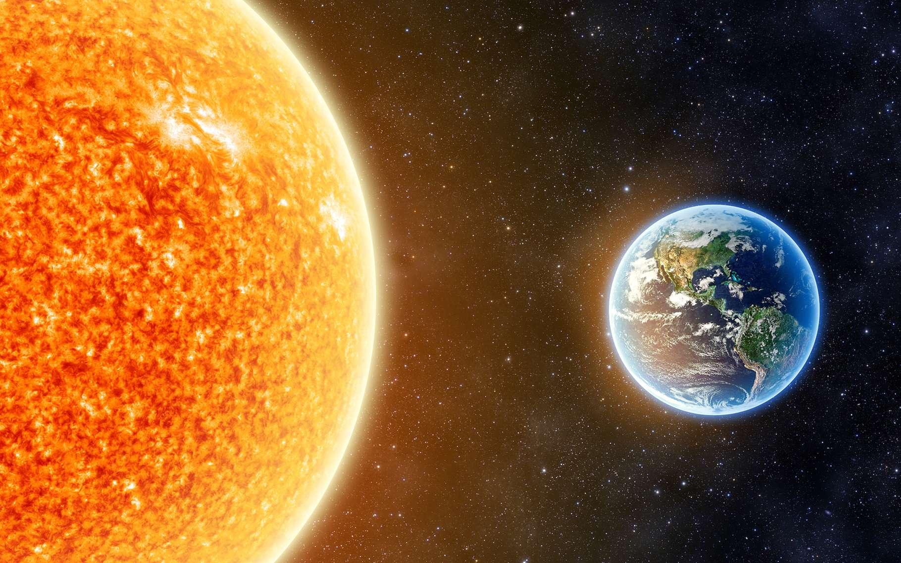 La vie est apparue sur Terre – ou plus exactement dans les mers terrestres – il y a moins de 4 milliards d'années. Mais, sommes-nous aujourd'hui encore seuls dans l'Univers ? La question se pose toujours. © Aphelleon, Shutterstock