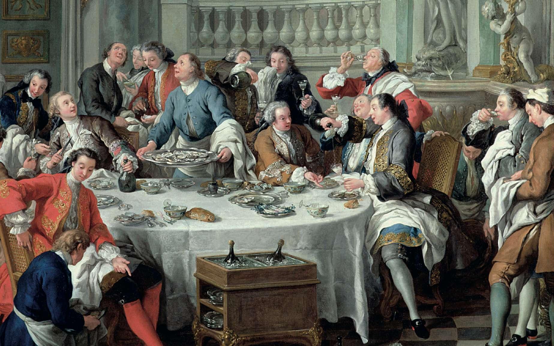 « Le déjeuner d'huîtres » par Jean-François de Troy en 1735. Musée Condé, Chantilly. © RMN-Grand Palais (domaine de Chantilly), René-Gabriel Ojéda.