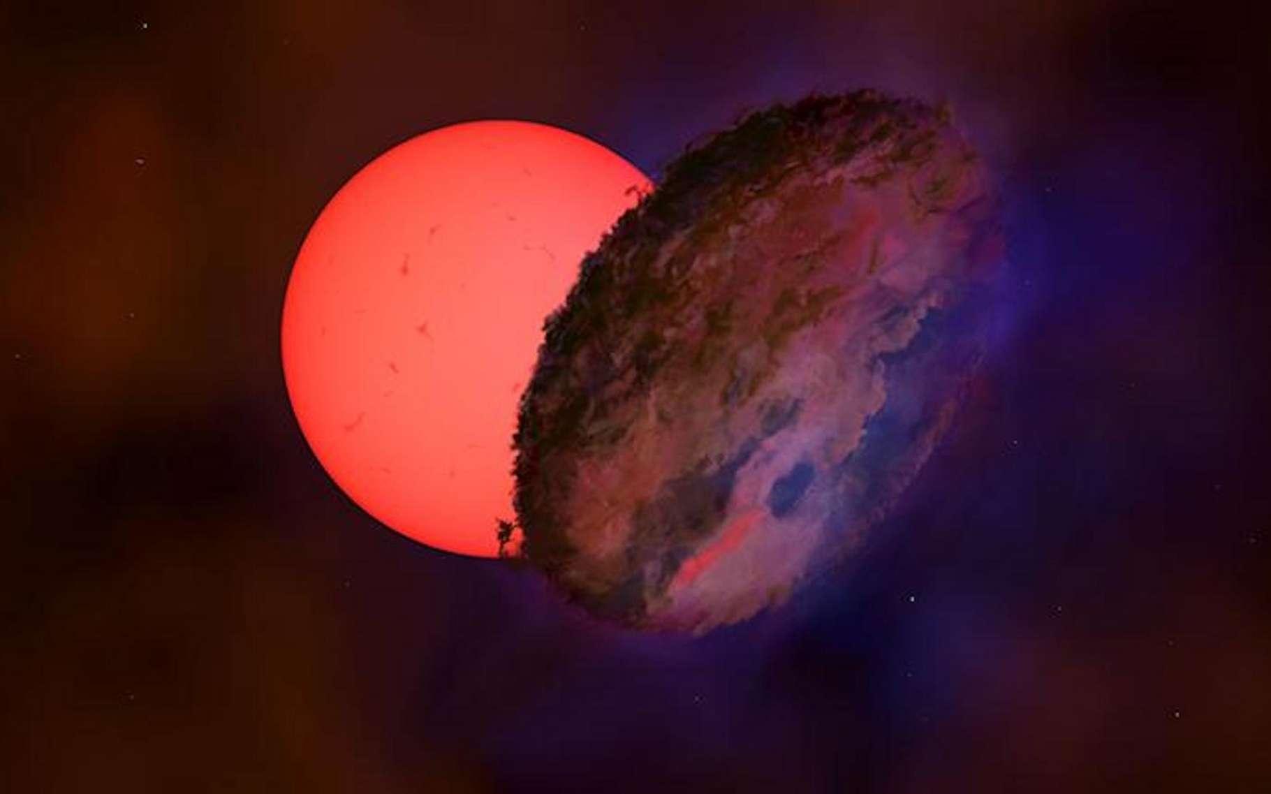 Des astronomes, notamment de l'université de Cambridge (Royaume-Uni), présentent une drôle d'étoile qui a clignoté une fois en 17 ans d'observation. Ils imaginent qu'un objet nous l'a momentanément cachée. © Université de Cambridge