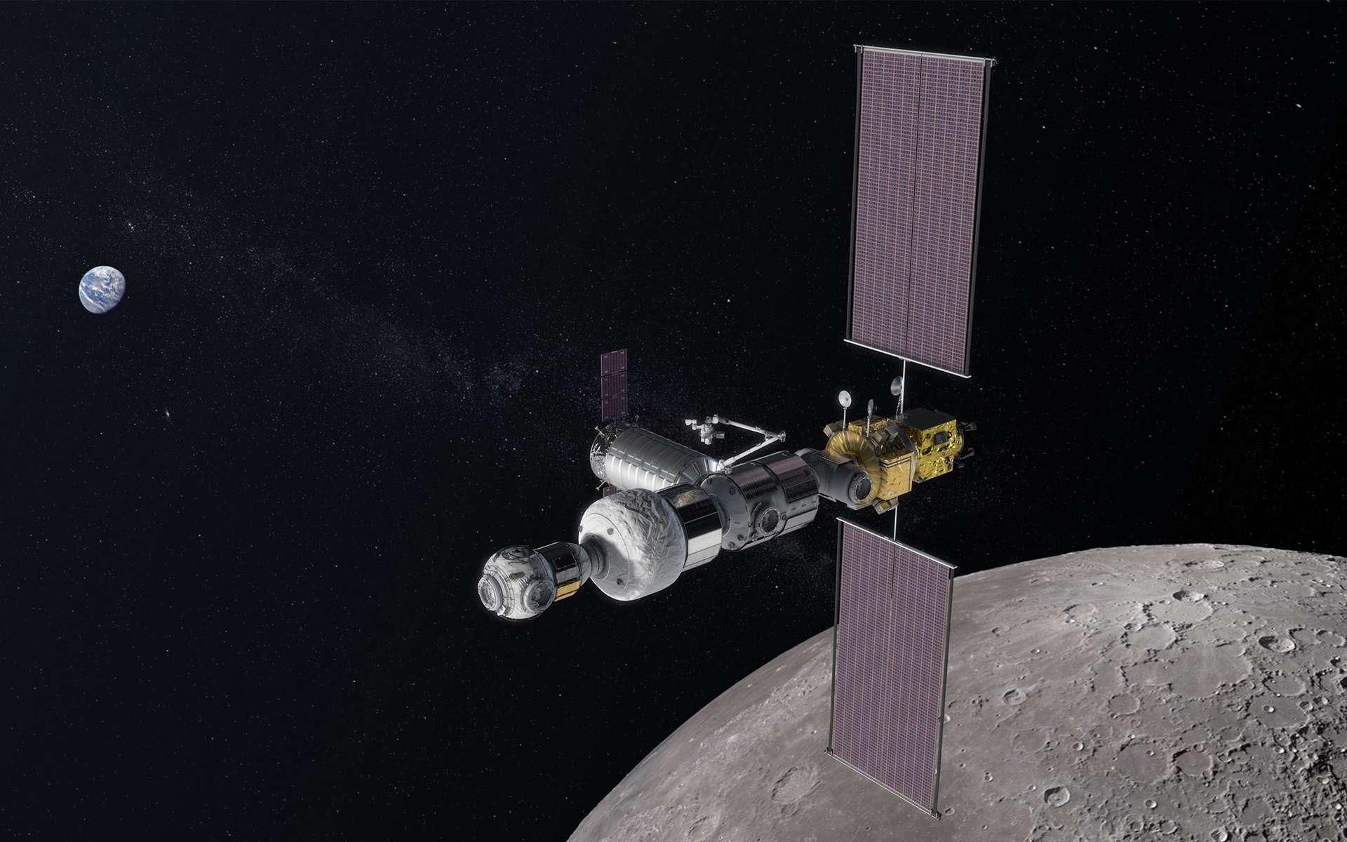 50 ans après Apollo, la Nasa se prépare à retourner sur la Lune, pour y rester cette-fois-ci, et en associant des partenaires internationaux et commerciaux. © Nasa