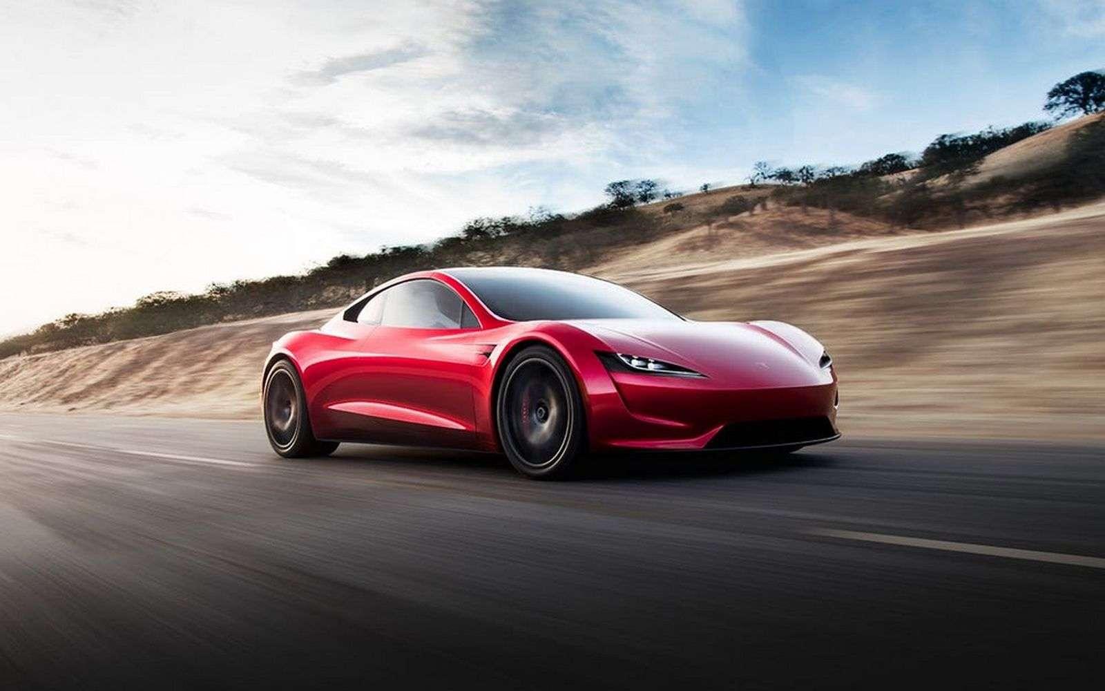 La production du Tesla Roadster est censée débuter en 2020. © Tesla