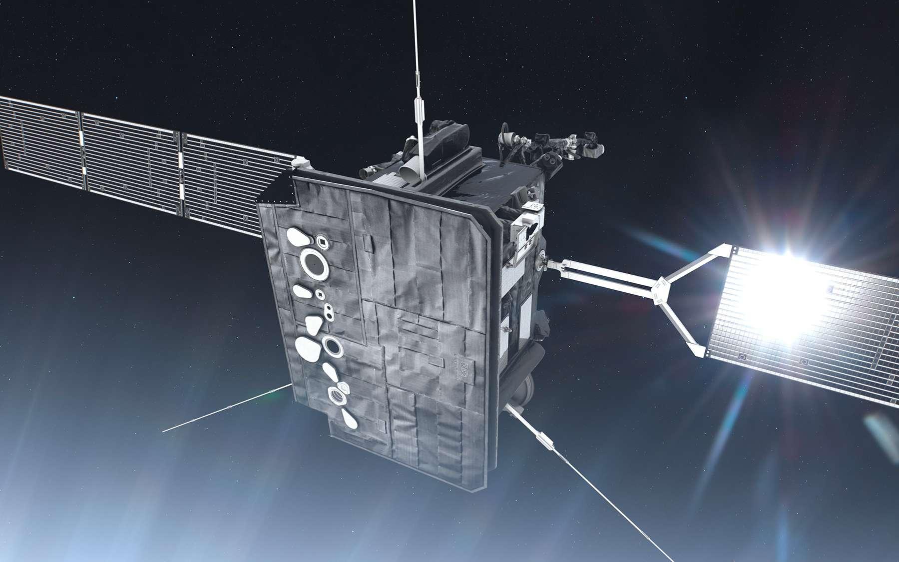 Solar Orbiter sera doté d'un bouclier thermique capable de résister à des températures supérieures à 500 °C. © ESA, ATG Medialab