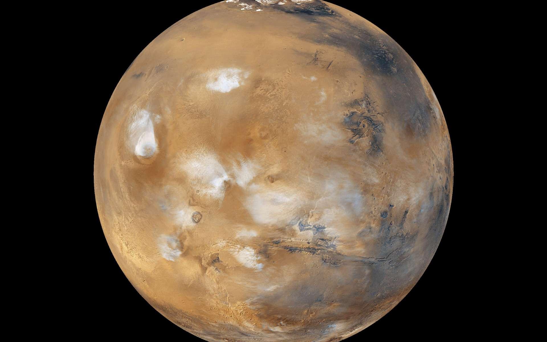 Pour la recherche d'un environnement propice à la vie dans le Système solaire, Mars est du plus grand attrait. Proche de nous, cette voisine ressemble en effet à notre planète et, dans un lointain passé, les conditions en surface ont été bien plus semblables aux nôtres. © Nasa