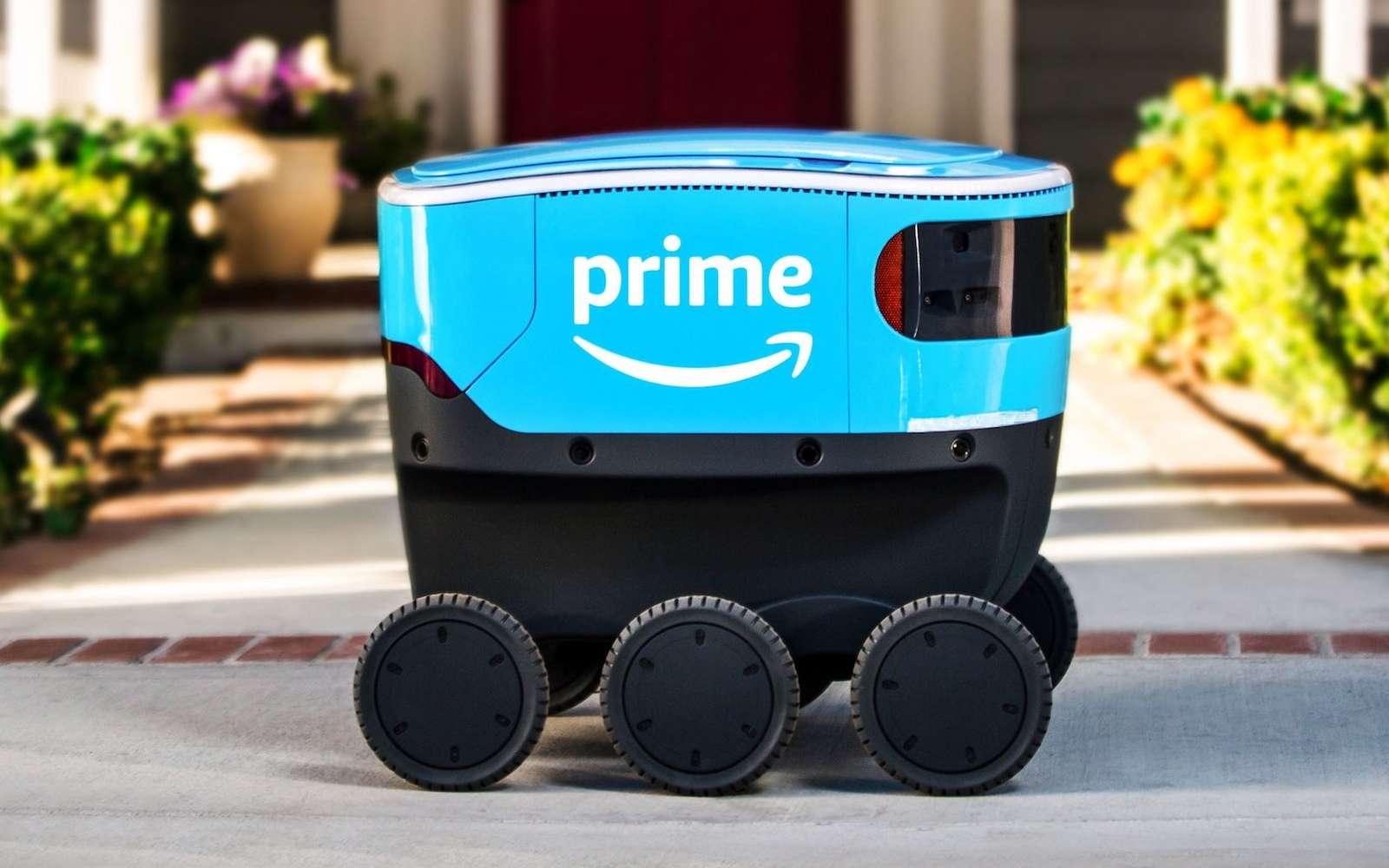 100 % électrique, Scout roule depuis mercredi dans la banlieue nord de Seattle, pas loin des bureaux d'Amazon. © Amazon