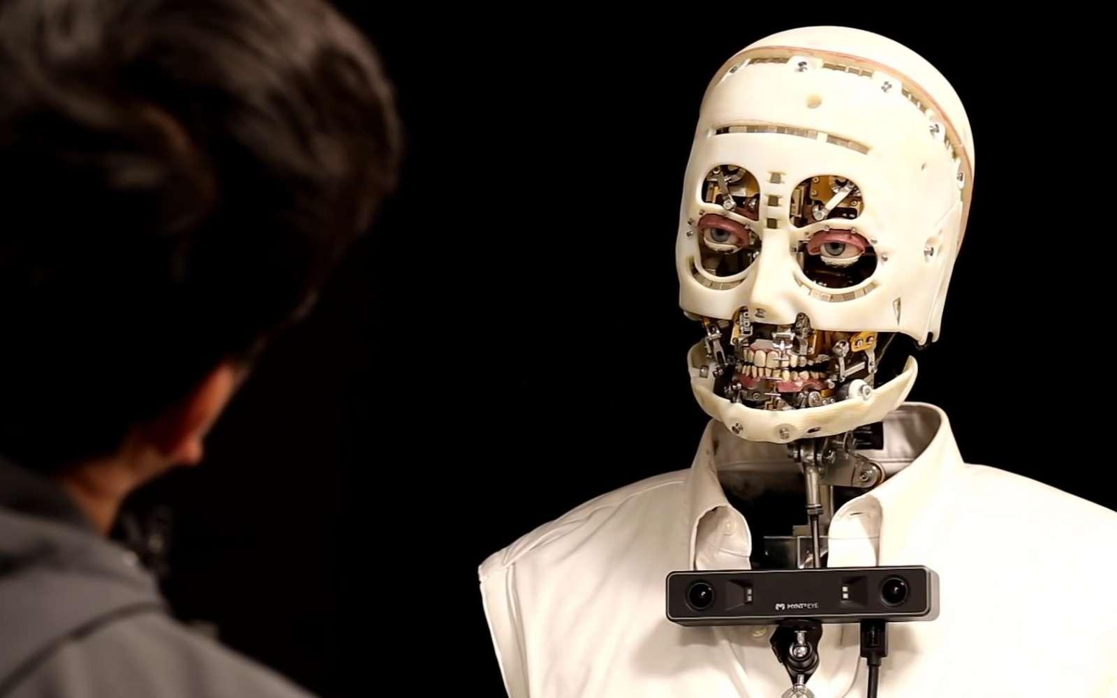 Des chercheurs de chez Disney ont créé un robot avec un regard extrêmement réaliste. © Disney