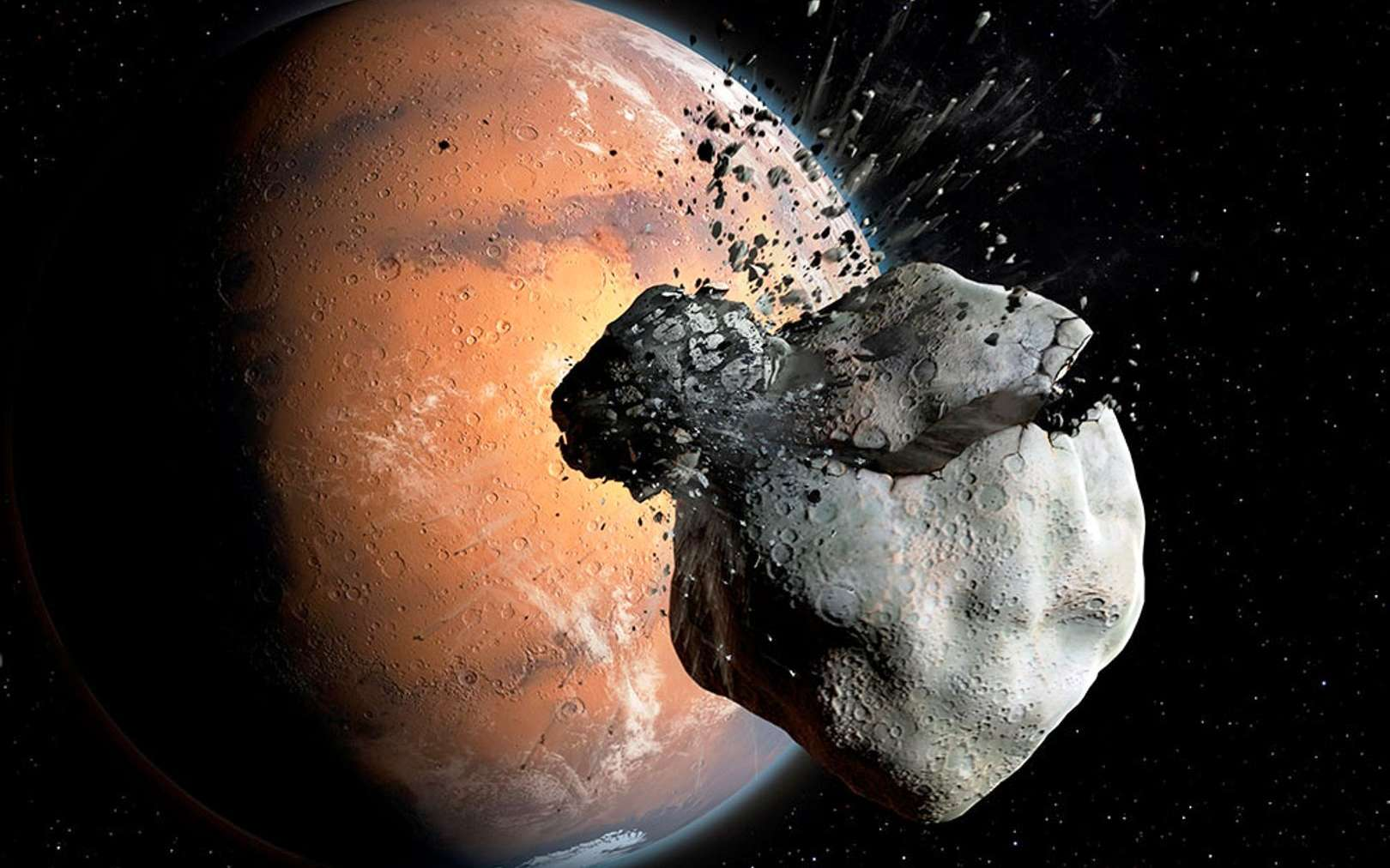 Rebondissement avec l'origine énigmatique de Phobos et Deimos, les lunes de Mars. - Futura