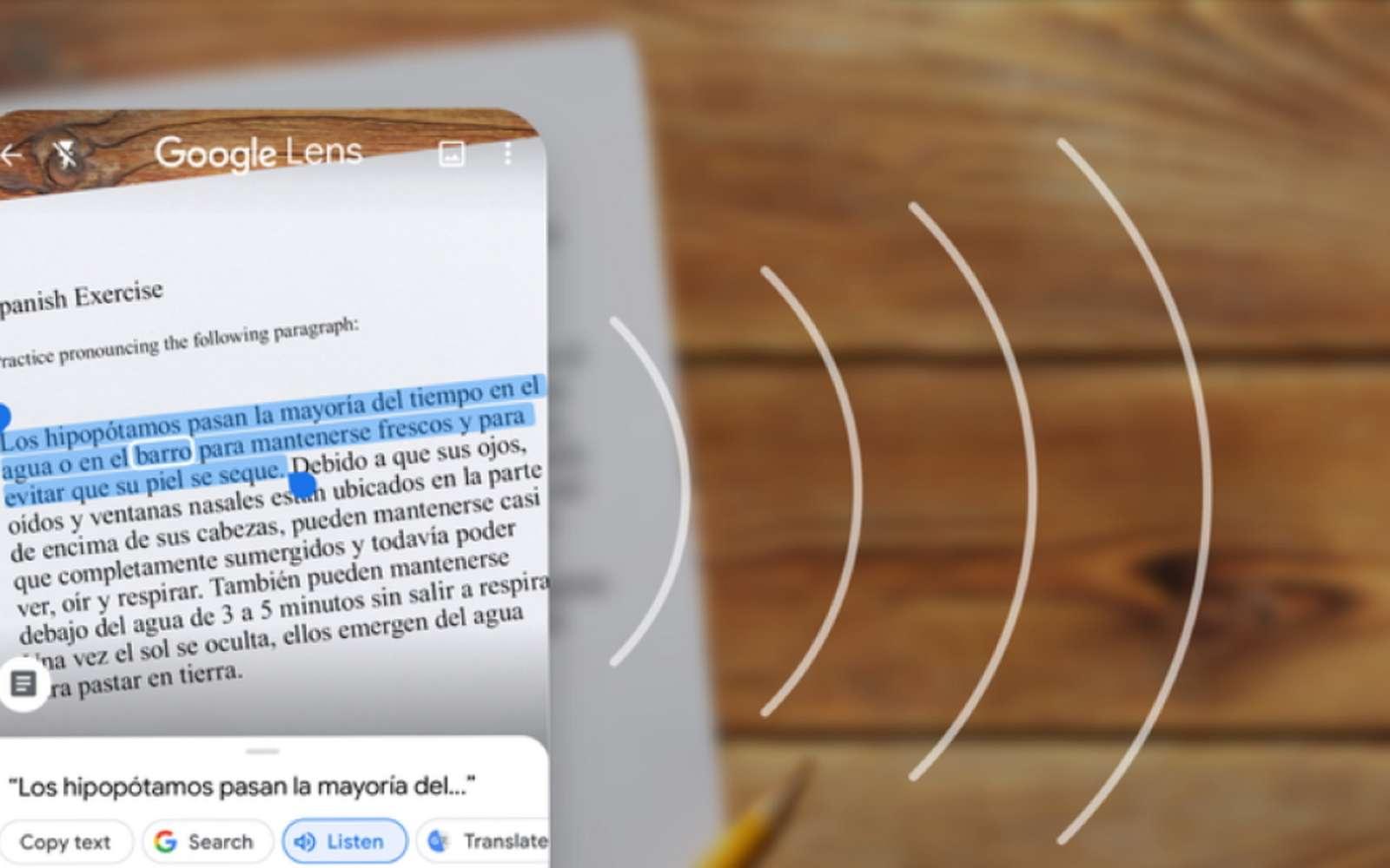 L'application Google Lens sait reconnaitre et extraire du texte d'une image et permet de le transmettre vers un ordinateur. © Google