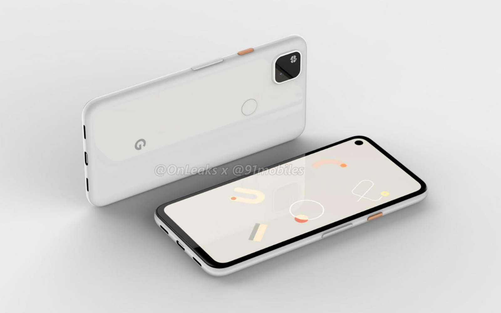 Le Google Pixel 4a est très minimaliste et c'est clairement un smartphone d'entrée de gamme. © Onleaks
