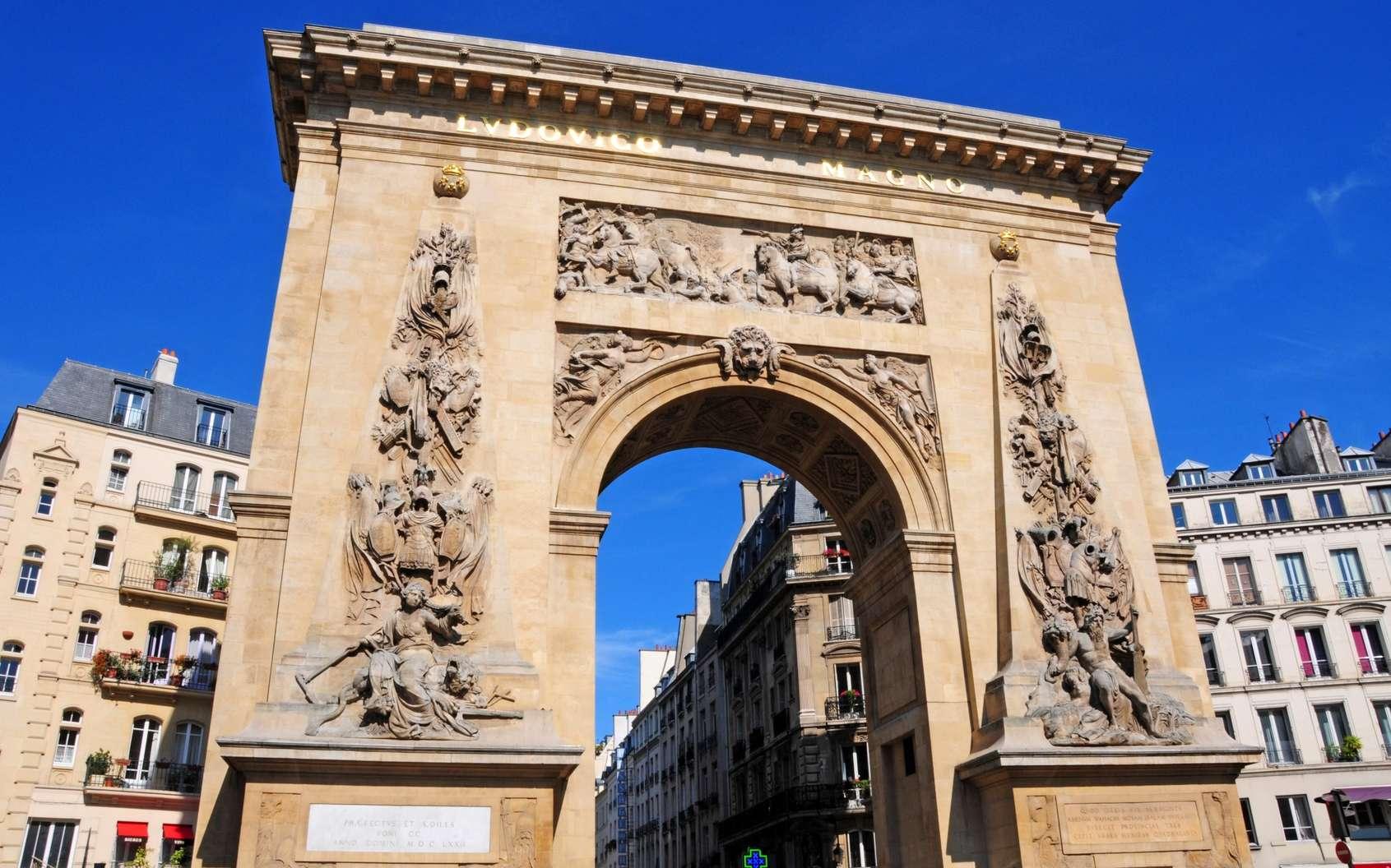 La porte Saint-Denis à Paris est classée monument historique depuis 1862. © Arap, fotolia