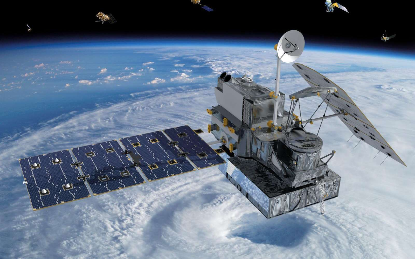 Les satellites météorologiques fournissent des informations sur la Terre qu'il est difficile d'obtenir au sol. Ils peuvent ainsi donner des indications sur le climat. © Nasa, Wikipédia, DP