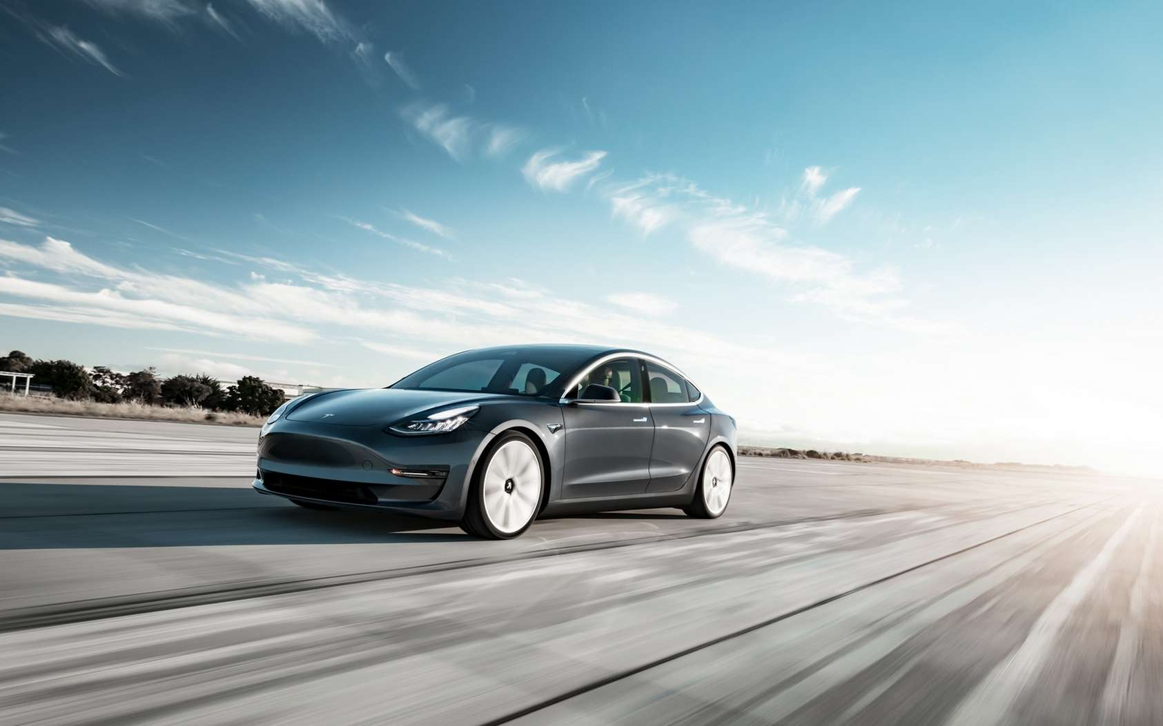 La Tesla Model 3 standard ne sera pas disponible avant six mois en Europe. © Tesla