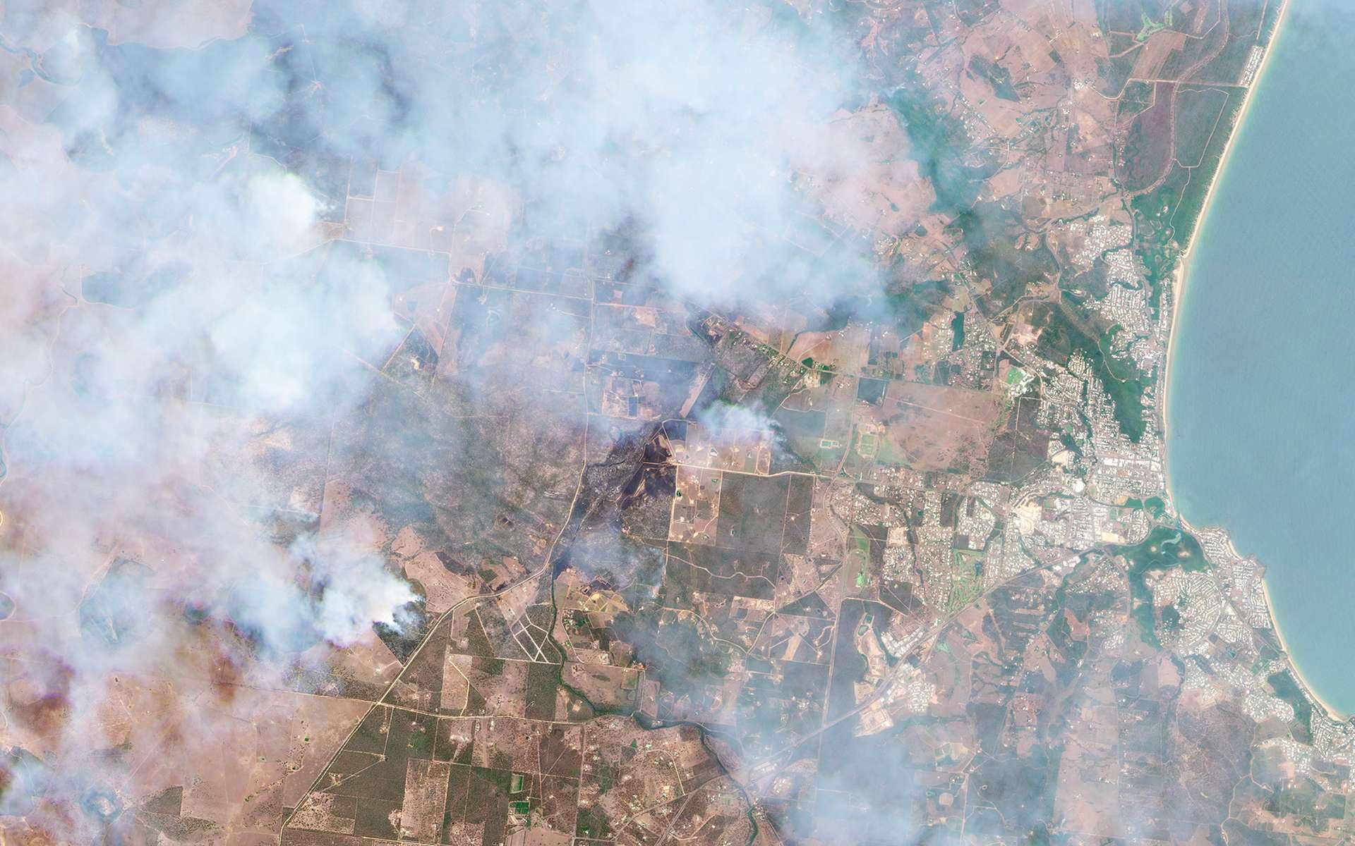 Feux de brousse en Australie. Entre le 9 et le 13 novembre, les feux de brousse en Australie ont détruit plus de 22.800 hectares. © 2019 Planet Labs, Inc.