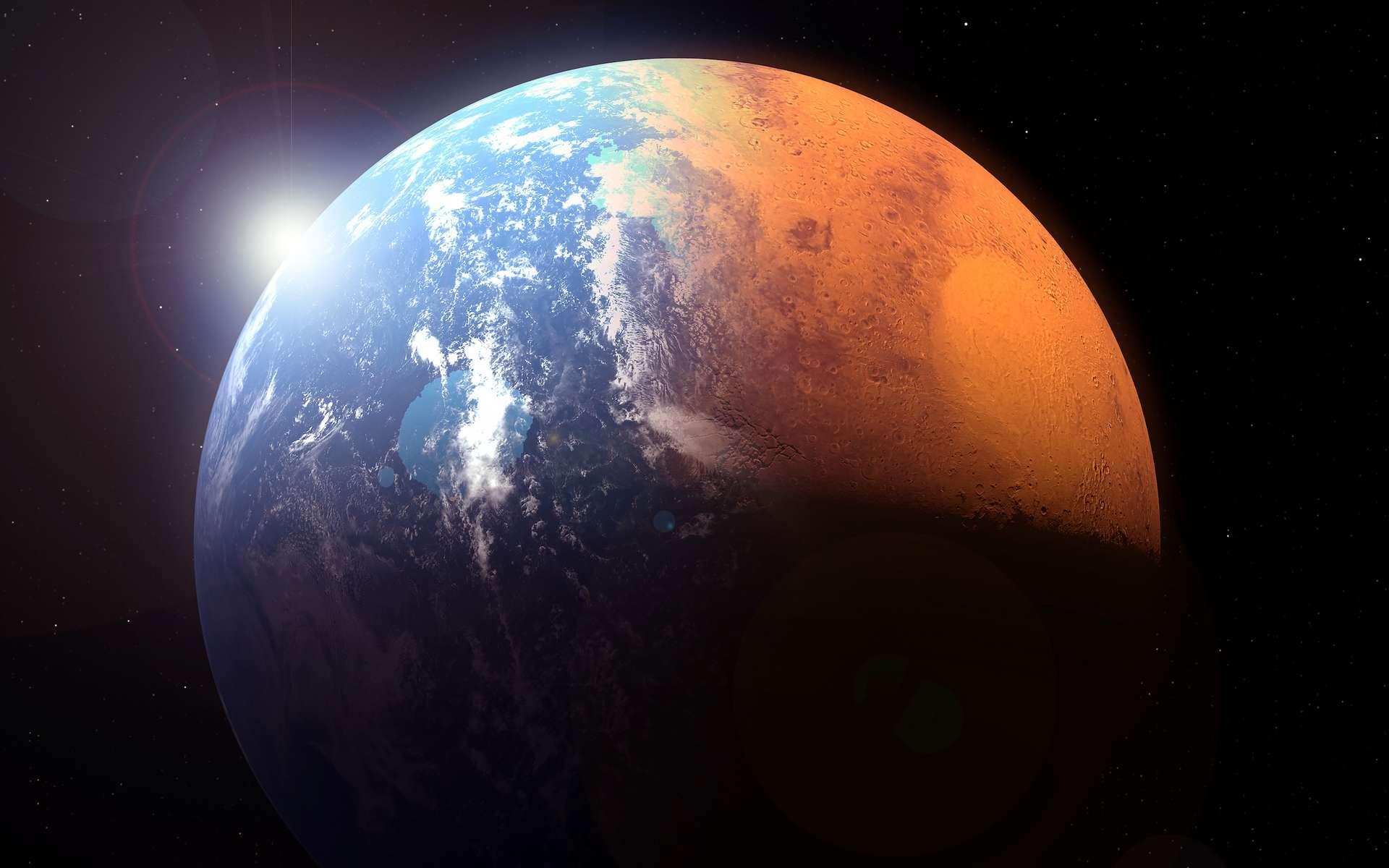 Le climat de Mars était différent il y a plus de 3,5 milliards d'années qu'aujourd'hui. © Artsiom Petrushenka, Adobe Stock