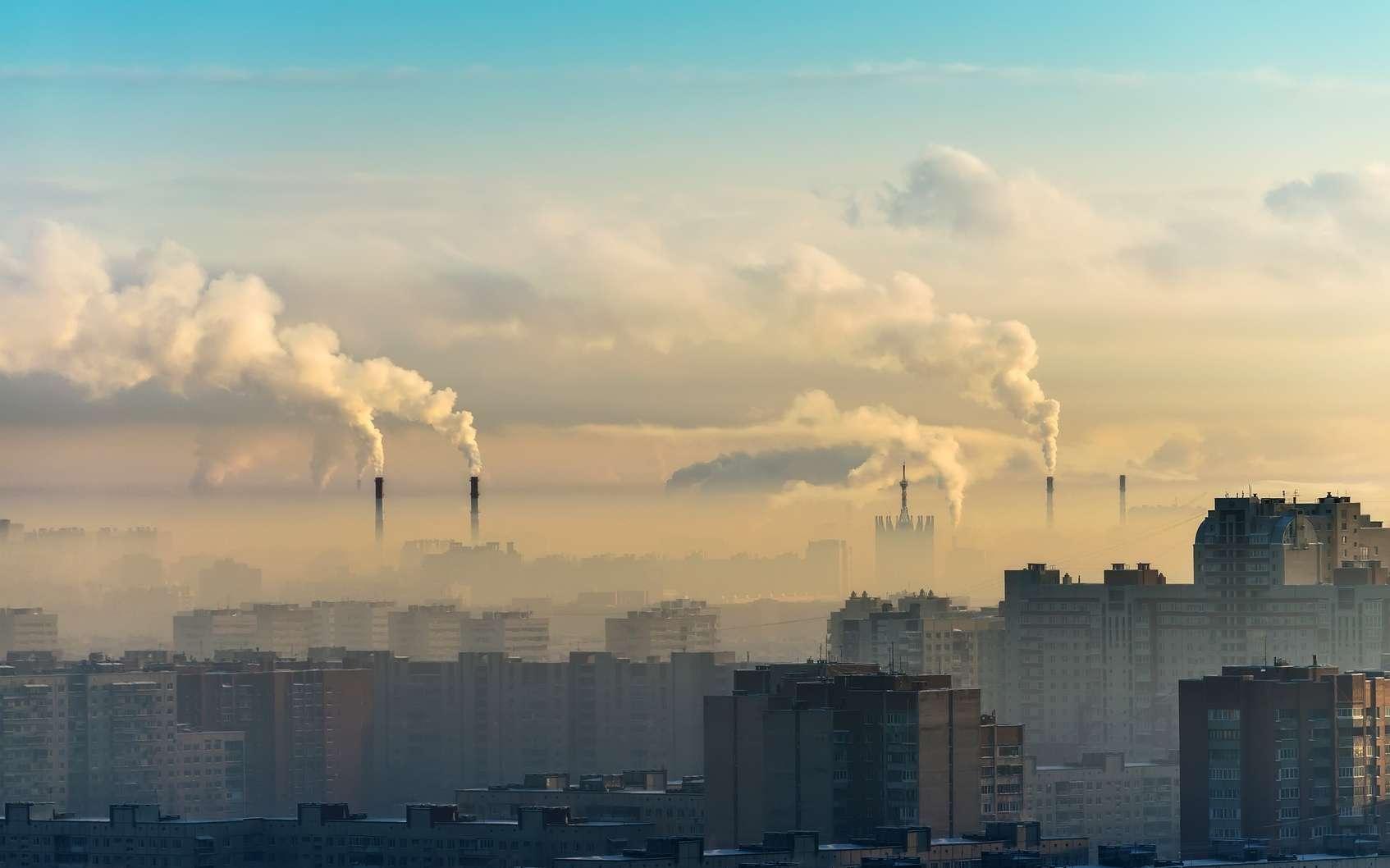 Les smogs sont des nuages de pollution essentiellement constitués d'ozone troposphérique et de particules fines. © aapsky, fotolia