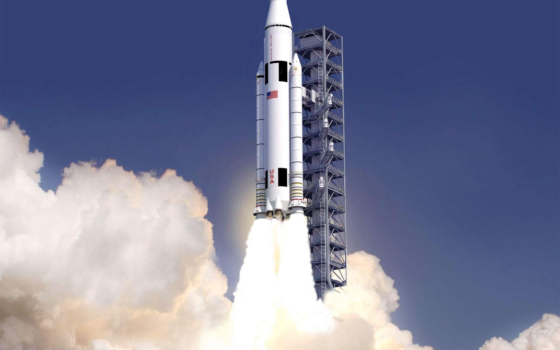 La Nasa vient de dévoiler son futur lanceur lourd de son système de lancement spatial dont l'objectif est d'emmener des hommes sur un astéroïde et sur Mars. © Nasa