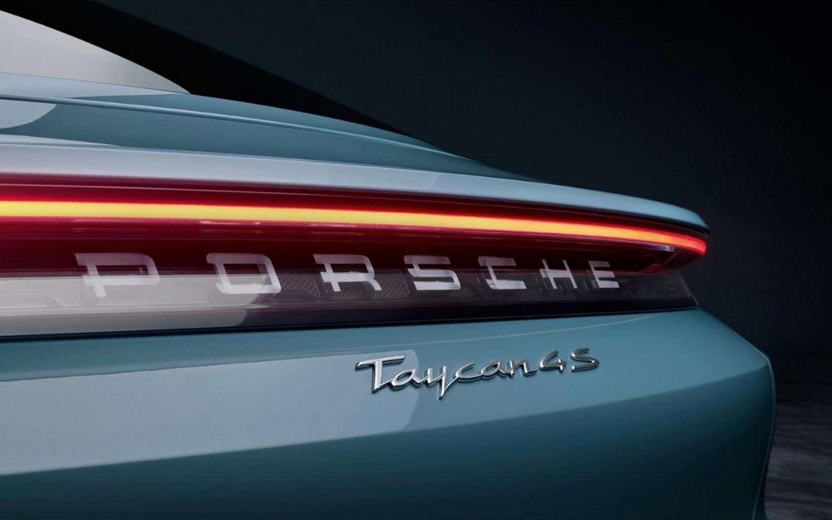 La Porsche Taycan 4S est esthétiquement semblable aux Taycan Turbo et Turbo S. © Porsche