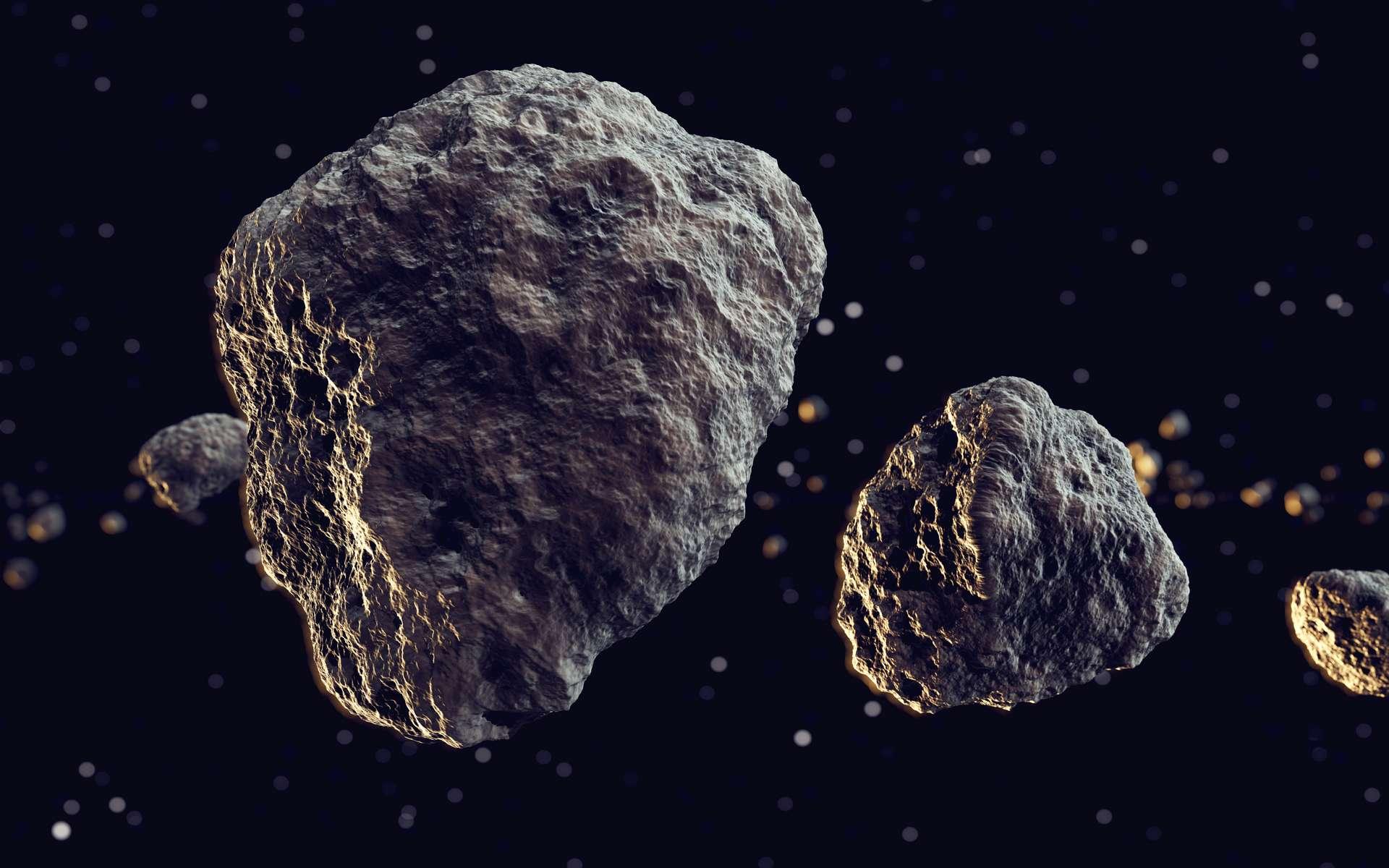 Illustration d'une météorite. © Dabarti, Adobe Stock