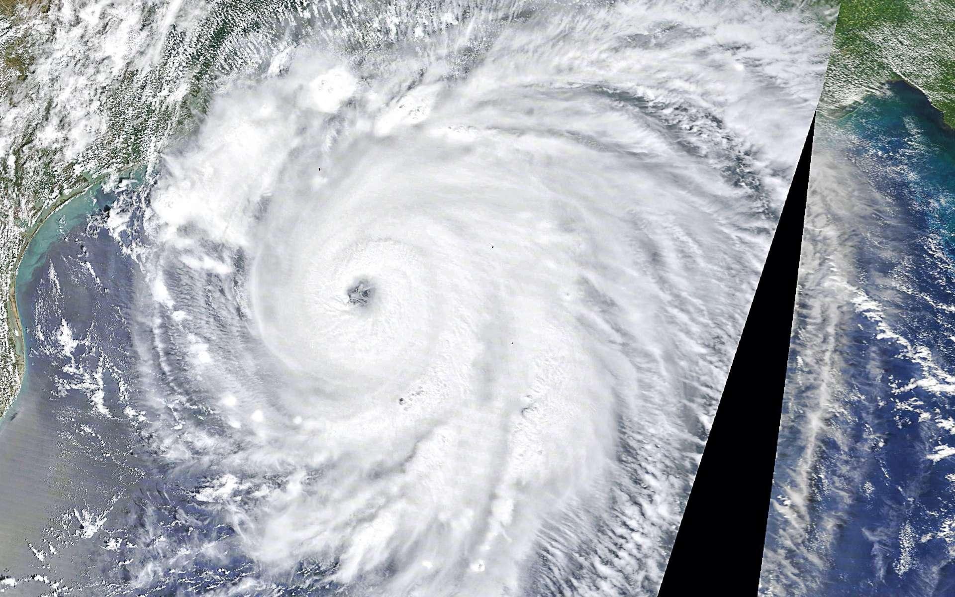 L'ouragan Laura vu de l'espace le 26 août 2020. © Nasa
