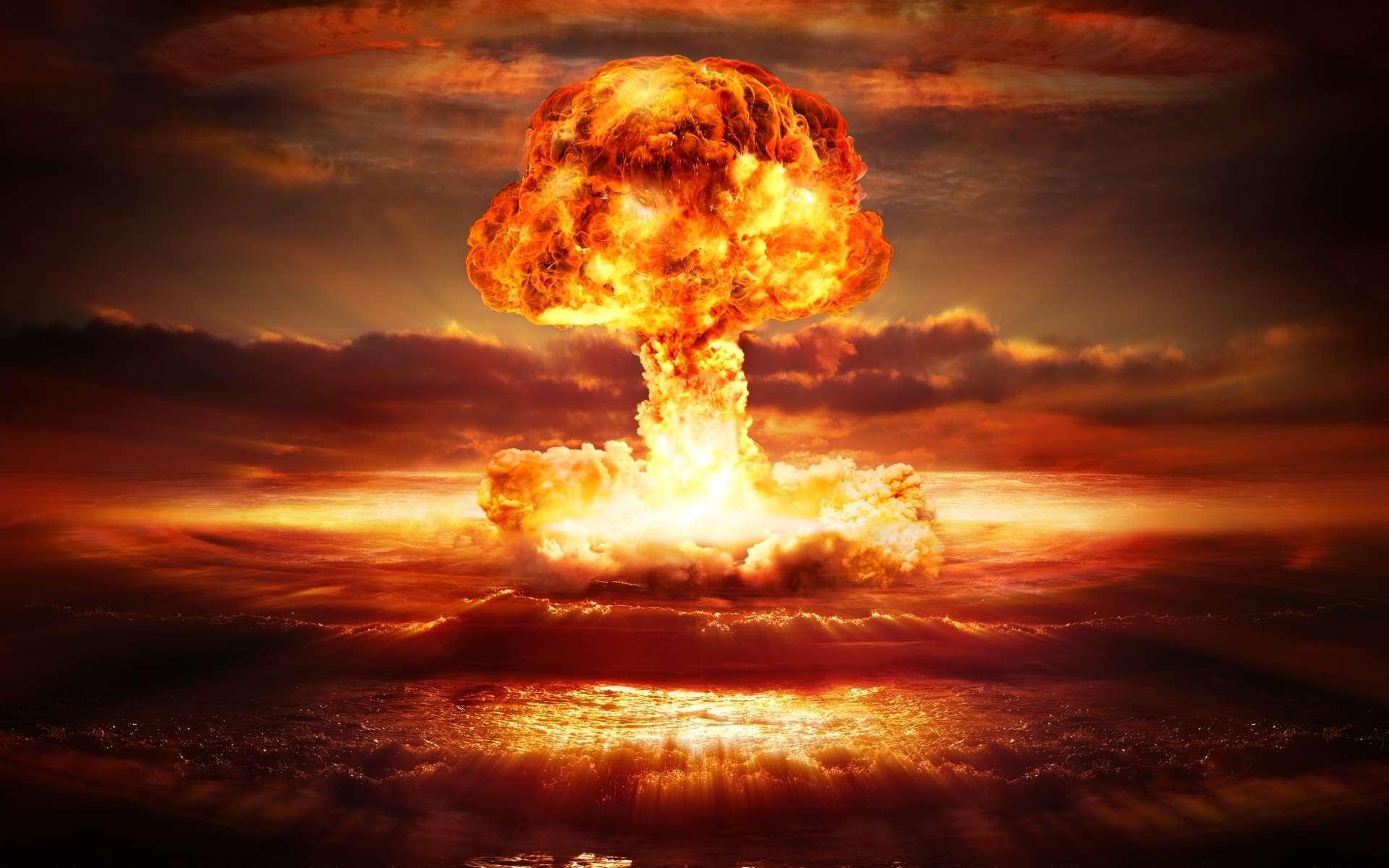Les essais nucléaires atmosphériques (ici une image de synthèse) ont été remplacés par des essais souterrains, moins dangereux… mais pas si discrets puisque le choc sismique généré est repérable à longue distance. Un traité les interdit depuis 1996 mais tous les pays ne l'ont pas ratifié, et la surveillance continue. © Shutterstock, Romolo