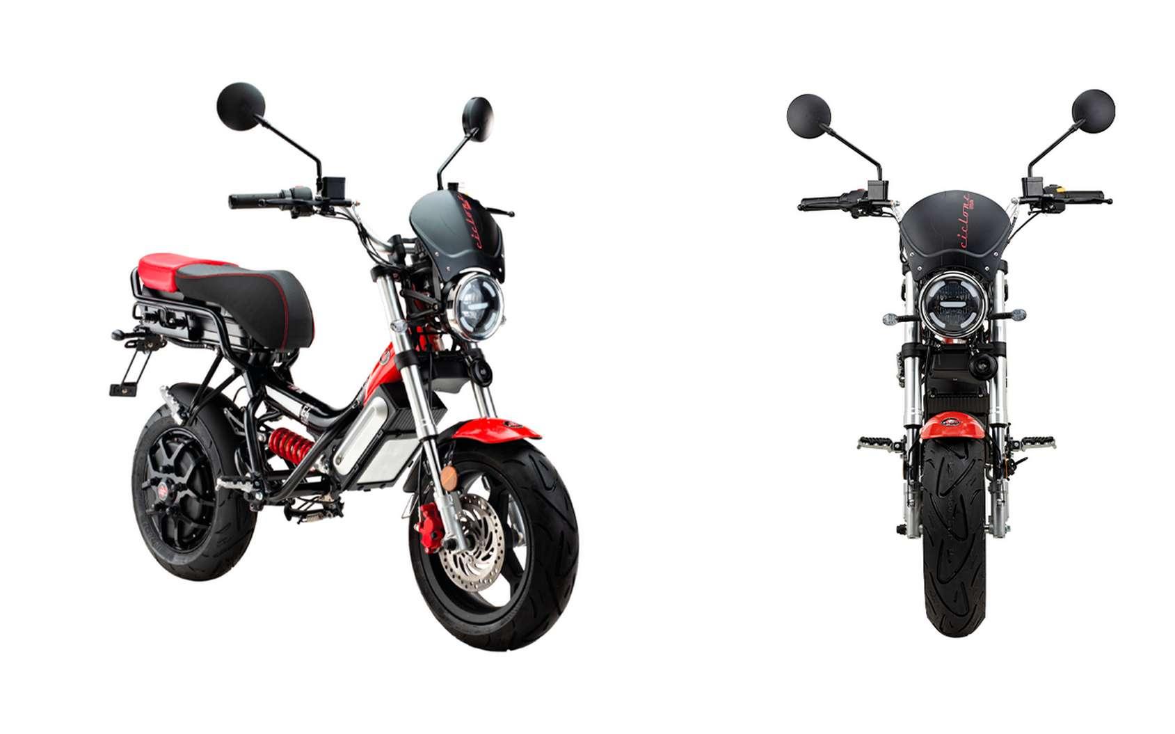 Le scooter électrique Garelli Ciclone E4 dans sa version Urban. © Garelli