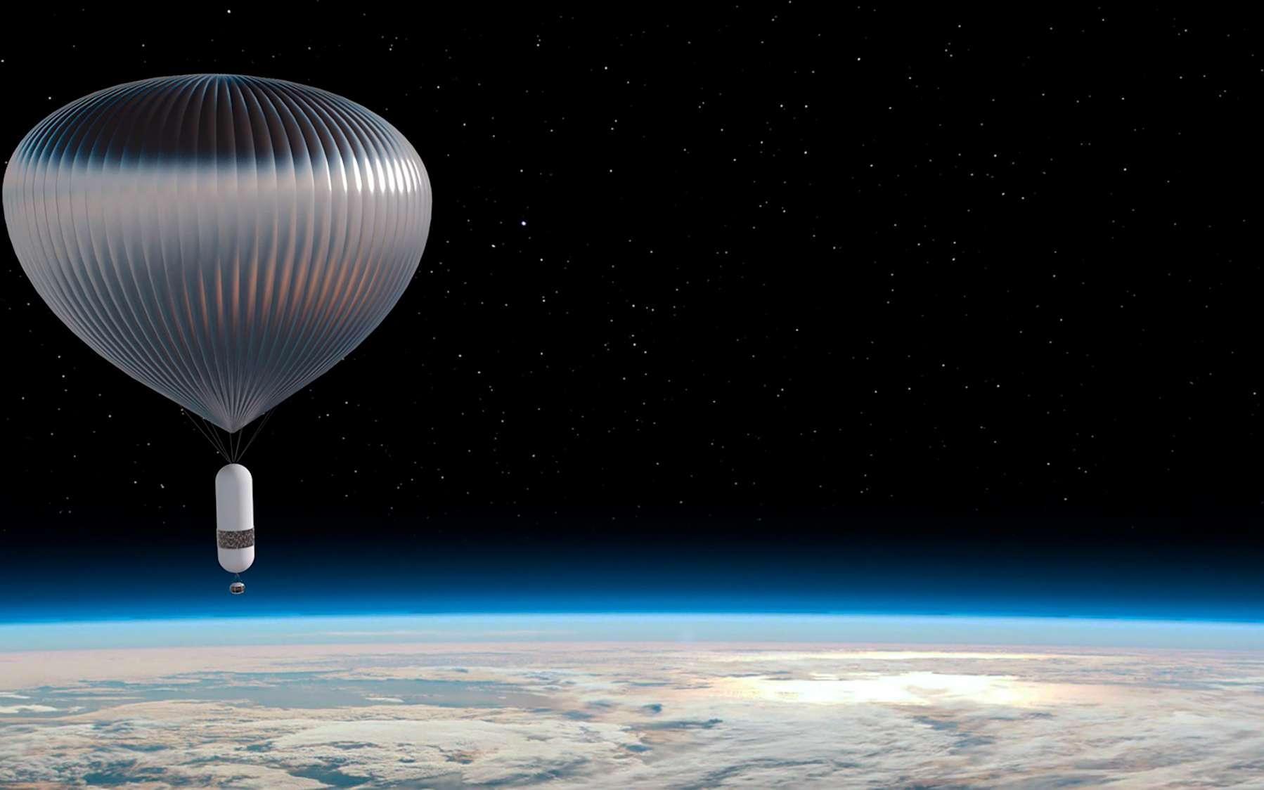 Le ballon stratosphérique de Zephalto. Haut de 130 mètres, il sera utilisé pour des vols habités à 25 kilomètres d'altitude et le transport d'expériences ou de charges utiles pour des applications scientifiques et industrielles. © Zephalto