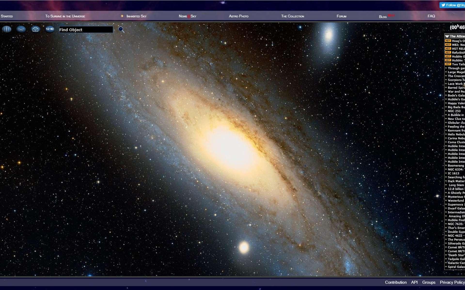 Les meilleurs logiciels et applications d'astronomie à télécharger. © SkyMap.org