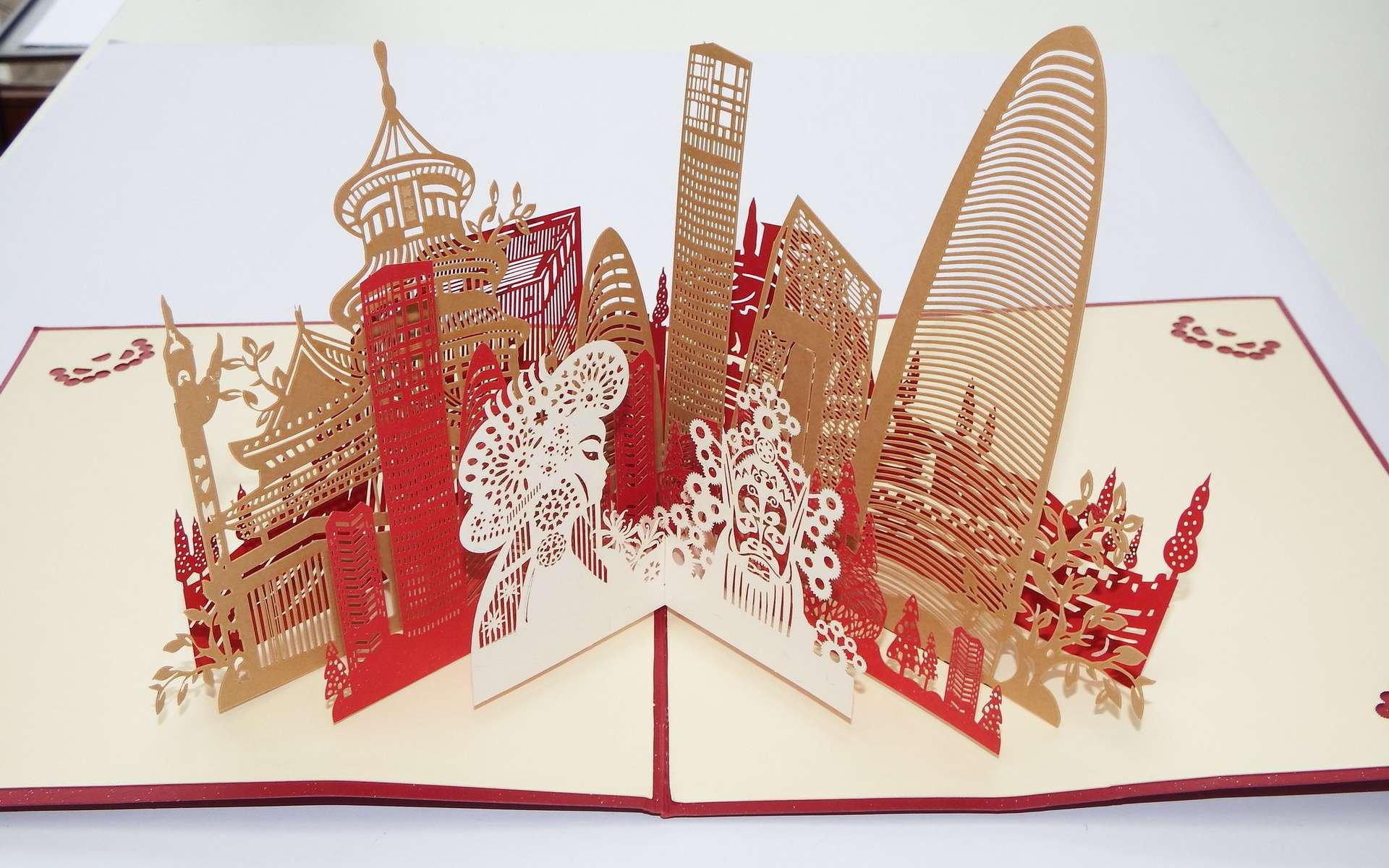 Le kirigami est l'art du découpage de papier. © fdecomite, Flickr