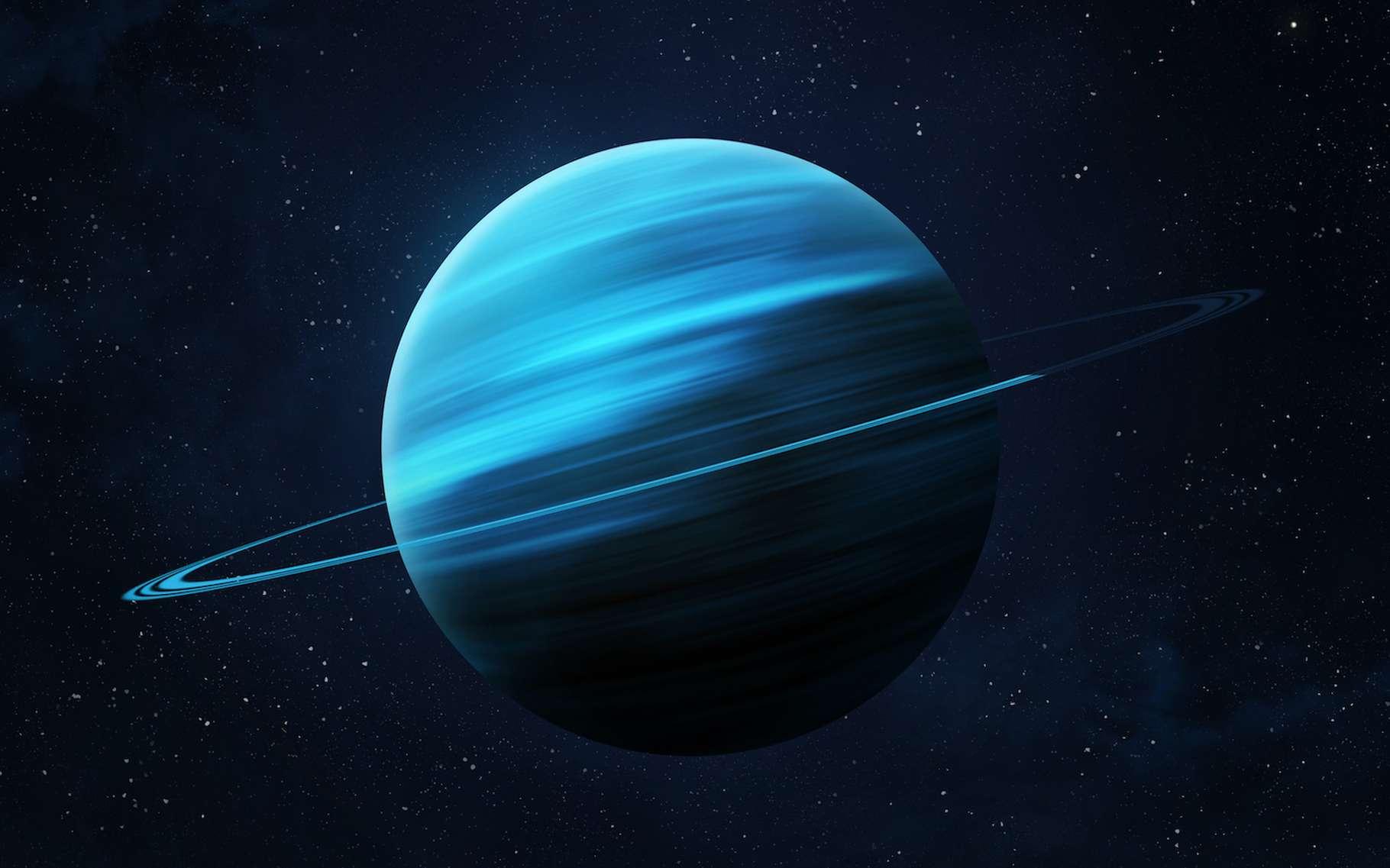 La distance entre le périhélie et l'aphélie d'Uranus est de 1,8 unité astronomique, la plus grande de tout le Système solaire. © revers_jr, Adobe Stock