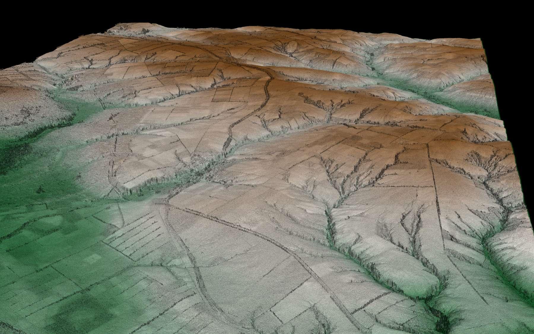 Cette image en 3D de la région Kalach on Don en Ukraine ouvre des perspectives intéressantes sur l'utilisation de ces données, notamment pour la prévision des inondations en cas de catastrophe. Crédit DLR