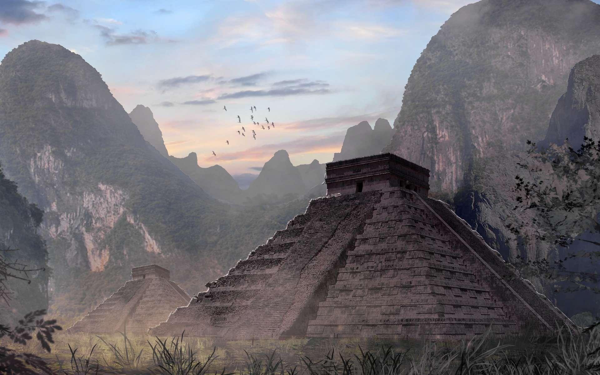 Les Mayas ont construit de nombreuses pyramides monumentales et ont utilisé des matériaux volcaniques. © Microstocker, Adobe Stock
